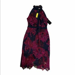 NWT Alexia Armour Midi Sleeveless Embroidery Dress